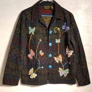 🦋 Vintage Beautiful Butterflies Julia Kim Blazer